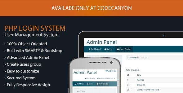 PHPLogin Lite - Simple Login System with Bootstrap - CodeCanyon Item for Sale