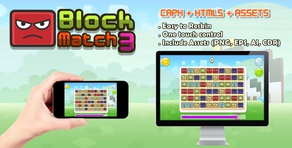 Block Match 3 (CAPX + HTML5 + ASSETS)
