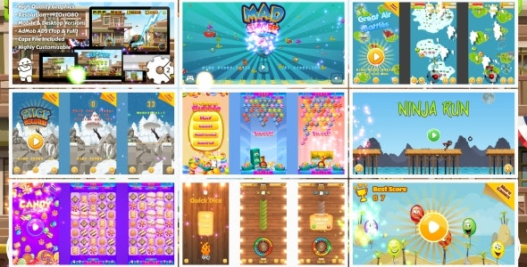 HTML5 GAMES BUNDLE №4 (Construct 3 | Construct 2 | Capx) - CodeCanyon Item for Sale