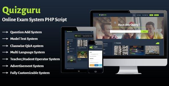 Quizguru - Online Exam System PHP Script - CodeCanyon Item for Sale