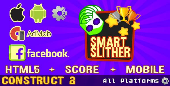 Smart Slither (Admob Ads supported & FaceBook)