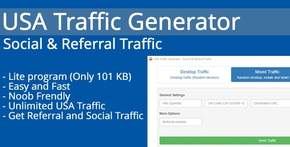 USA Traffic Generator - Social & Referral Traffic by