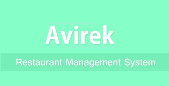 Avirek Restaurant Management System Pro - CodeCanyon Item for Sale