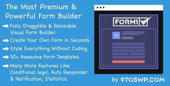 Formi - The Most Premium & Powerful WordPress Form Builder Plugin - CodeCanyon Item for Sale