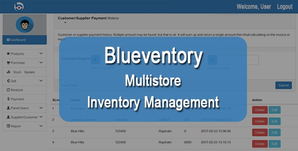 Blueventory - CodeCanyon Item for Sale