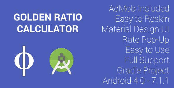 Golden Ratio (Φ) Calculator - AdMob (Banner & Interstitial)