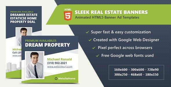 HTML5 Ads - Sleek Real Estate Banner Templates