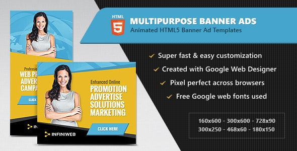 HTML5 Ads - Multipurpose Animated Banner Templates - CodeCanyon Item for Sale