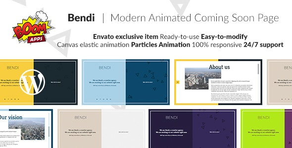 Bendi - Creative Coming Soon / Under Construction - CodeCanyon Item for Sale