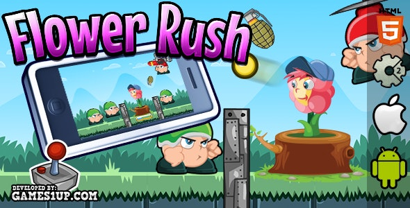 Flower Rush - HTML5 CAPX Construct 2 - CodeCanyon Item for Sale