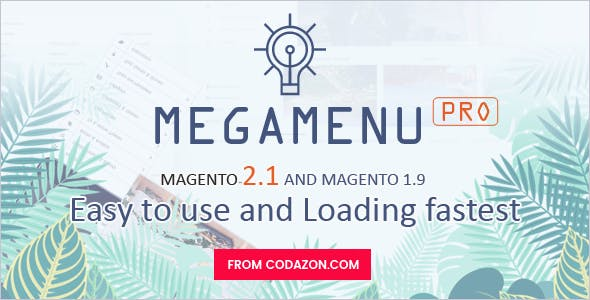 Codazon MEGA MENU Pro - Drag & Drop - For Magento 1 & Magento 2.x - All in one