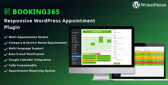 Booking365 - Responsive WordPress Appointment Plugin