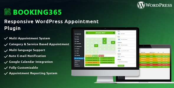 Booking365 - Responsive WordPress Appointment Plugin - CodeCanyon Item for Sale