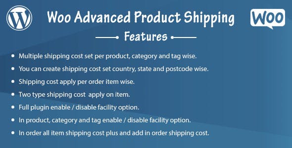 Woo Advanced Product Shipping