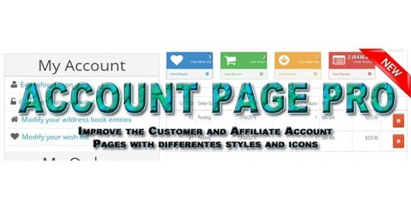 Account Dashboard Pro - Opencart Plugin