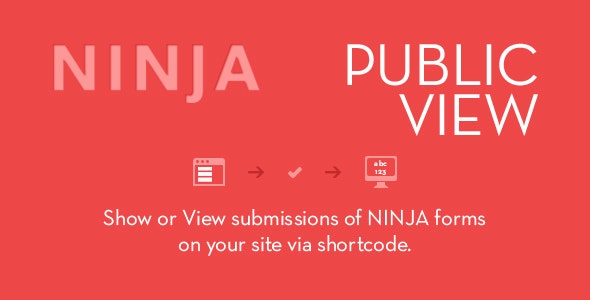 Ninja Forms Public View - CodeCanyon Item for Sale