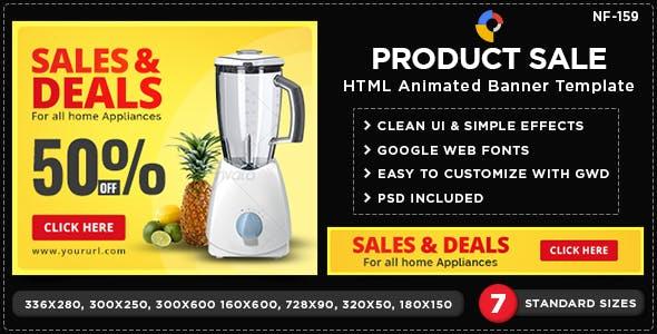 HTML5 Retail/Shop Banners - GWD - 7 Sizes(NF-CC-159)