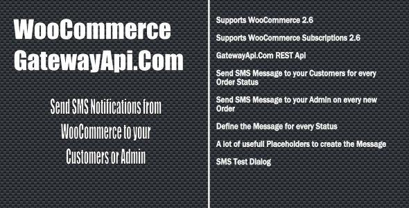 WooCommerce GatewayApi SMS Notifications - CodeCanyon Item for Sale