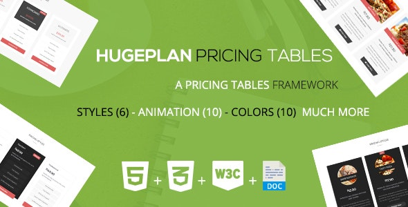 Hugeplan - A Corporate Pricing Tables Framework - CodeCanyon Item for Sale