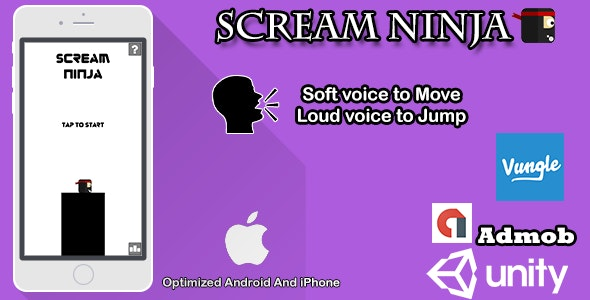 Scream Ninja: Sound Game - CodeCanyon Item for Sale