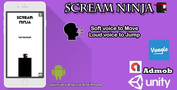 Scream Ninja: sound game Android by LikuidGames | CodeCanyon