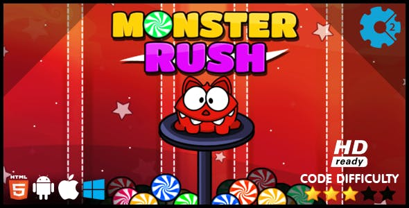 Monster Rush HTML5 Game