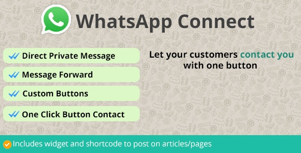 WhatsApp Connect | Let customers contact through WhatsApp - CodeCanyon Item for Sale