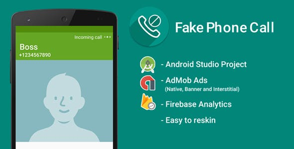 Fake Call with Admob Ads + Google Analytics + Firebase Integration