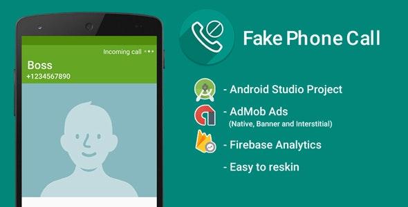 Fake Call with Admob Ads + Google Analytics + Firebase Integration - CodeCanyon Item for Sale