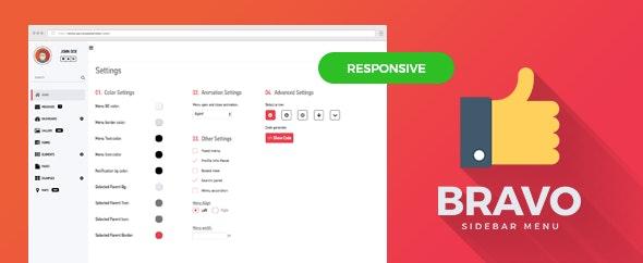 Menu Mega Bravo-Responsive Bootstrap Sidebar Menu Plugin - CodeCanyon Item for Sale