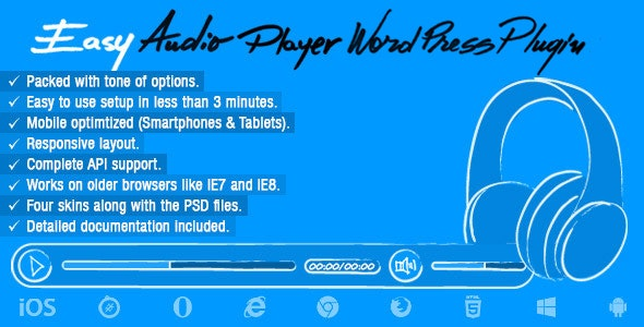 Easy Audio Player Wordpress Plugin - CodeCanyon Item for Sale