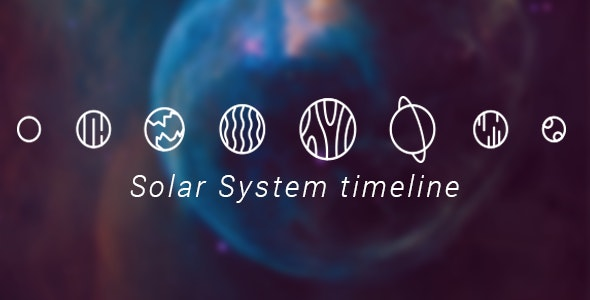 Solar System Timeline - CodeCanyon Item for Sale