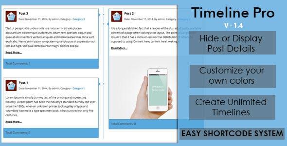 Timeline Pro – Responsive Timeline for WordPress
