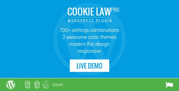 Responsive Cookie Law Consent Notification WordPress Plugin GDPR Compliance