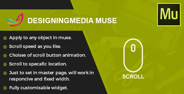 Scroll To Top - Muse Widget by designingmedia | CodeCanyon