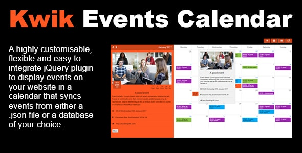 Kwik Event Calendar - CodeCanyon Item for Sale