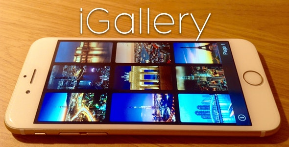 iGallery - Online/Local Photo Gallery for iOS - CodeCanyon Item for Sale