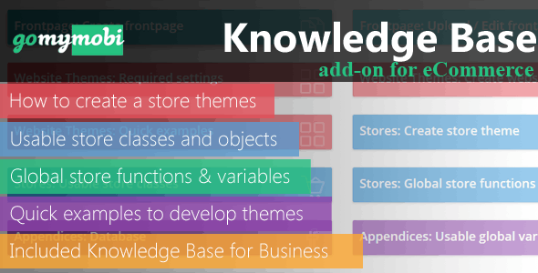 gomymobiBSB: Knowledge Base Add-on for eCommerce