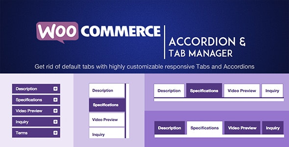 WOOATM- WooCommerce Accordions & Tab Manager - CodeCanyon Item for Sale