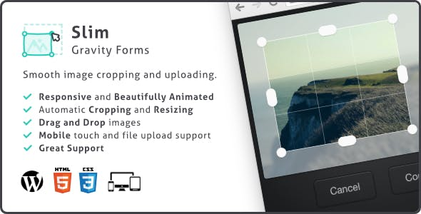 Slim Image Cropper for Gravity Forms, Photo Uploading and Cropping Plugin