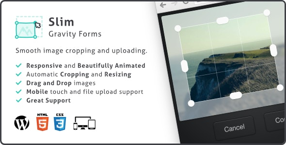 Slim Image Cropper for Gravity Forms, Photo Uploading and Cropping Plugin - CodeCanyon Item for Sale