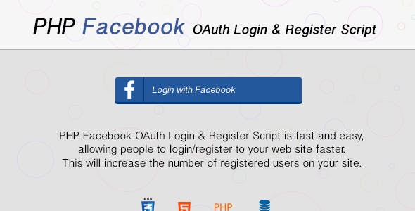 Facebook OAuth Login & Register with PHP