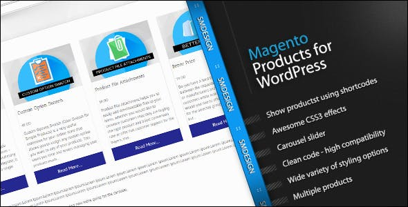 Magento Products for WordPress
