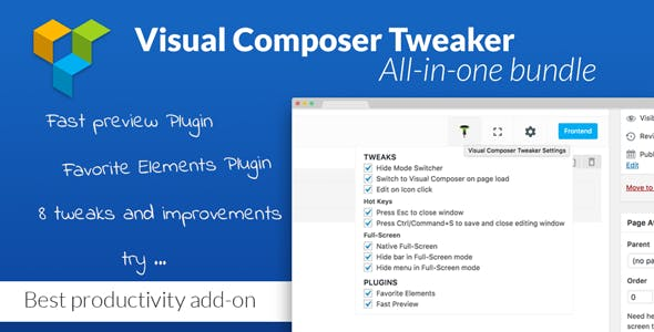VC Tweaker - Visual Composer Productivity Add-on