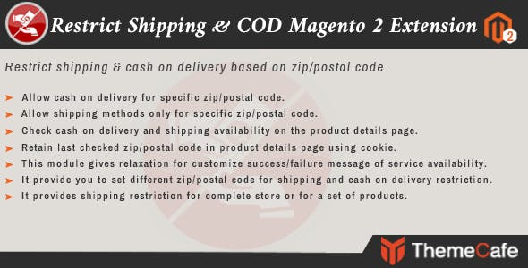 Restrict shipping & COD Magento 2 Extension