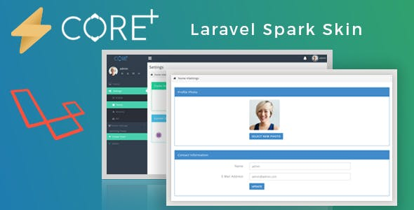 Core Plus - Laravel Spark Skin