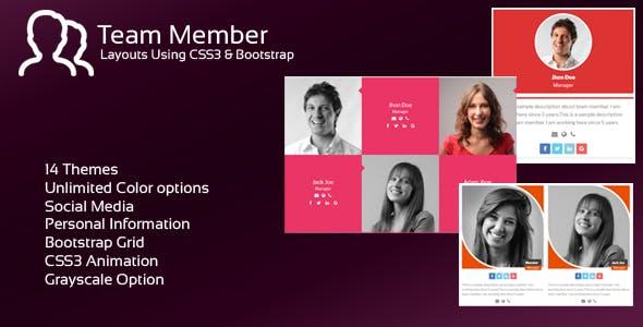 JAG Bootstrap Responsive Team Members