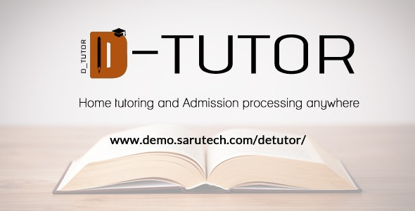 De-Tutor - Private Tutoring and Admission Processing - CodeCanyon Item for Sale
