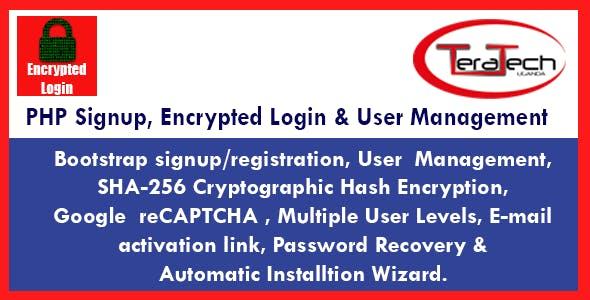 PHP Signup, Encrypted Login & User Management