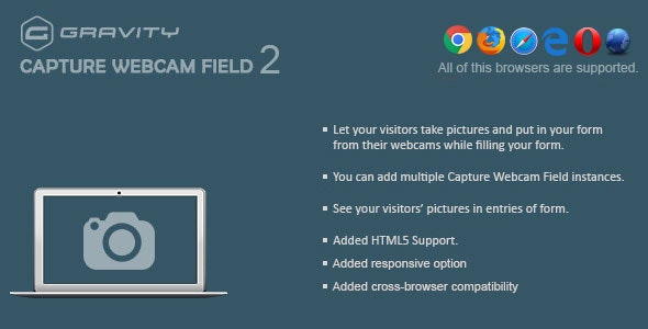 Gravity Forms Capture Webcam Field 2.2 - CodeCanyon Item for Sale